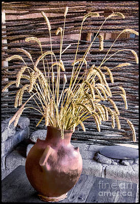 Digital Art - Wheat Pot by Georgianne Giese