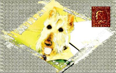 Scottish Dog Digital Art - Wheaten Scottish Terrier - During Sickness And Health by Image Takers Photography LLC - Carol Haddon and Laura Morgan