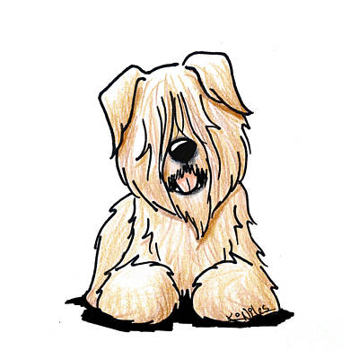 Soft Coated Wheaten Terrier Drawing - Wheaten Smile by Kim Niles