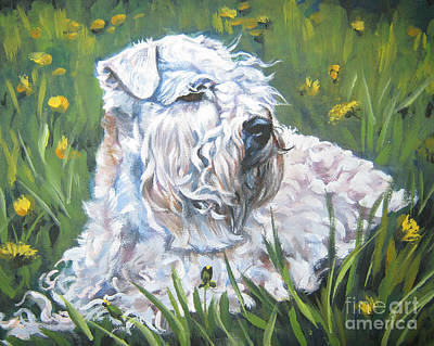 Painting - Wheaten Terrier In The Wildflowers by Lee Ann Shepard