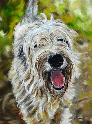 Wheaten Terrier Art Print by Sun Sohovich