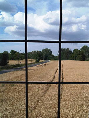 Photograph - Wheatfield Through Window by Michael Canning