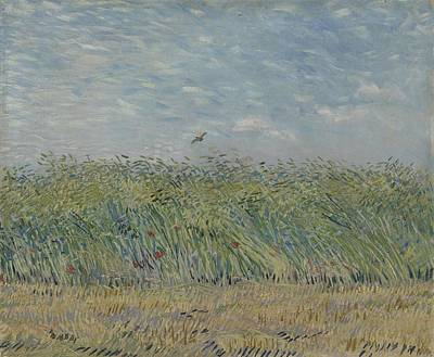 Painting - Wheatfield With Partridge Paris, June - July 1887 Vincent Van Gogh 1853 - 1890 by Artistic Panda