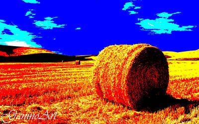 Stallone Mixed Media - wheat_field_Art by Saverio Ganino