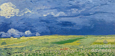 Painting - Wheatfields Under Thunderclouds by Vincent Van Gogh