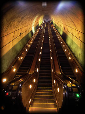 Photograph - Wheaton Escalator by Newman Artography