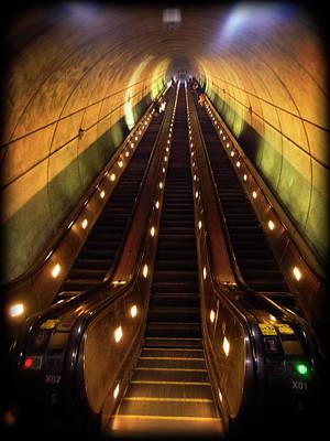 Photograph - Wheaton Escalator by Newman Artography