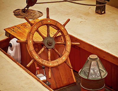 Photograph - Wheel And Compass 2 by Mick Burkey