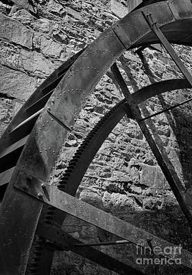 Photograph - Wheel Black And White by Karen Adams