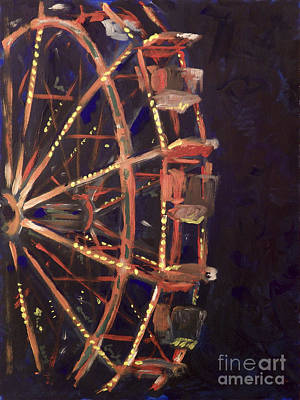 Painting - Wheel by Joseph A Langley
