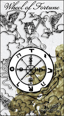 Arcana Wall Art - Painting - Wheel Of Fortune Arcannah by Mindy Sommers
