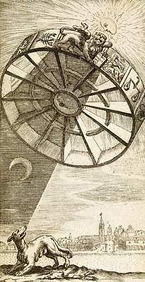 Wheel Of Fortune Descending, 1657 Print by Wellcome Images