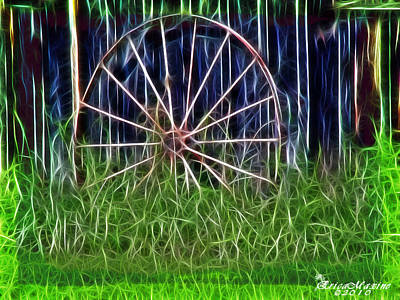 Art Print featuring the photograph Wheel Of Fortune by EricaMaxine  Price