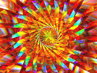 Abstract Designs Digital Art - Wheel Of Light by Andreas Thust