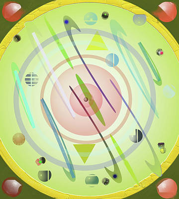 Digital Art - Wheel Of Sorts 2 by SC Heffner