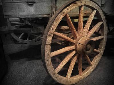 Wheel Of Yesteryear Art Print