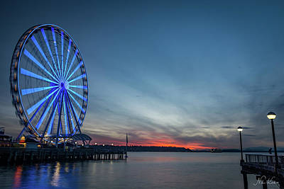 Photograph - Wheel On The Pier by Framing Places