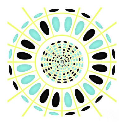 Dart Digital Art - Wheel On White by Gaspar Avila