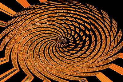 Digital Art - Wheel Part Twirl Abstract by Tom Janca