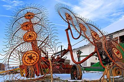 Photograph - Wheel Rake Upside Down 2 by Tana Reiff