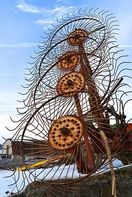 Photograph - Wheel Rake Upside Down by Tana Reiff