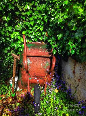 Photograph - Wheelbarrow And Ivy 2 by Joan-Violet Stretch