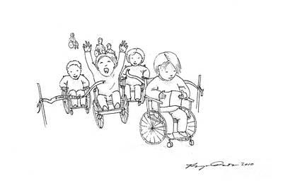 Wheelchair Race Art Print