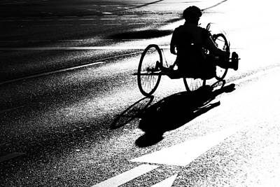 Abstract Street Photograph - Wheelchairs by Frank Andree