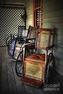 Photograph - Wheelchairs Of Yesteryear By Kaye Menner by Kaye Menner