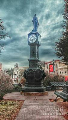 Photograph - Wheeler Town Clock by Tony Baca