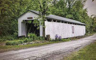 Wheeling Covered Bridge Art Print by Phyllis Taylor
