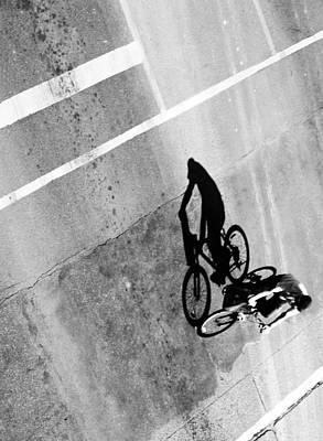 Ladies Bike Photograph - Wheeling In Direct  by Jerry Cordeiro