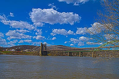Photograph - Wheeling Suspension Bridge by Daniel Houghton