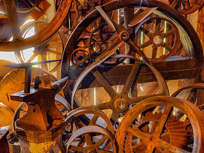 Photograph - Wheels And Gears by Leland D Howard