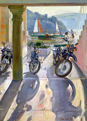 Sun Casting Shadow Painting - Wheels And Sails by Timothy Easton
