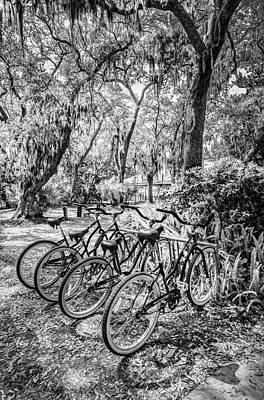 Photograph - Wheels Black And White by Debra and Dave Vanderlaan