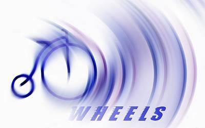 Two Wheeler Digital Art - Wheels by Chrystyne Novack