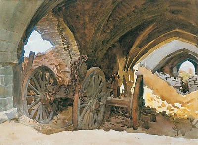 Drawing - Wheels In Vault by John Singer Sargent