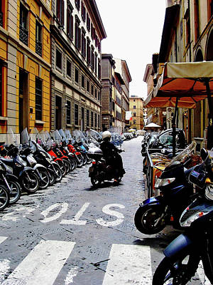 Transportion Photograph - Wheels Of Florence Italy by Debbie Oppermann