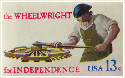Bicentennial Painting - Wheelwright For Independence by Lanjee Chee