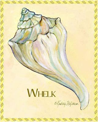 Shell Sign Painting - Whelk by Kimberly McSparran