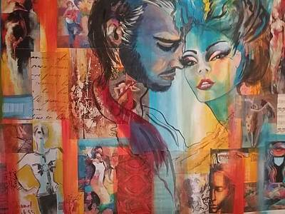 Mixed Media - When A Man Loves A Woman  by Patricia Rachidi