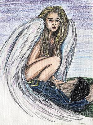 Drawing - When Angels Cry by Lorah Buchanan
