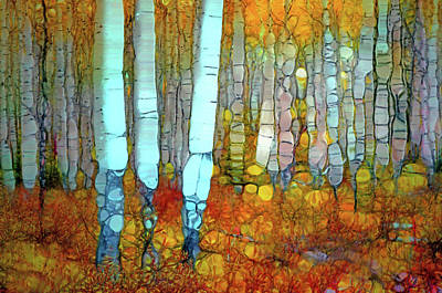 Digital Art - When Autumn Covers The Forest Floor by Tara Turner