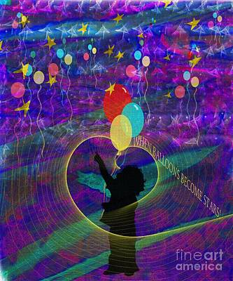 Digital Art - When Balloons Become Stars by Sydne Archambault