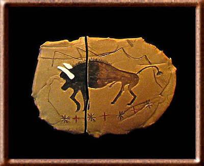 Ceramic Art - When Buffalo Roamed by Judy  Hensley