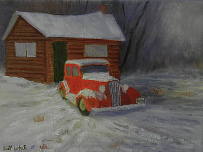 Painting - When Cars Were Big And Homes Were Small by Scott W White