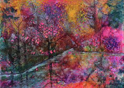 When Cherry Blossoms Fall Art Print