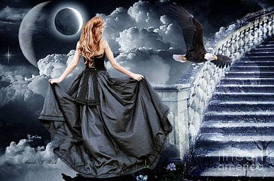 Ball Gown Digital Art - Stairway To Heaven by Brenda Rich
