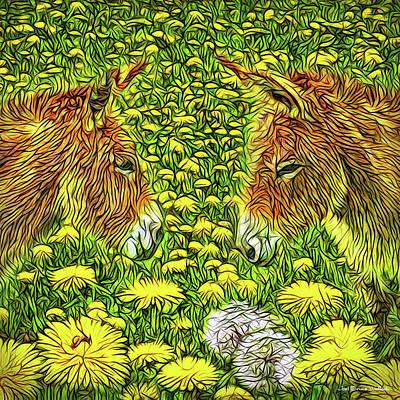Digital Art - When Donkeys Speak by Joel Bruce Wallach